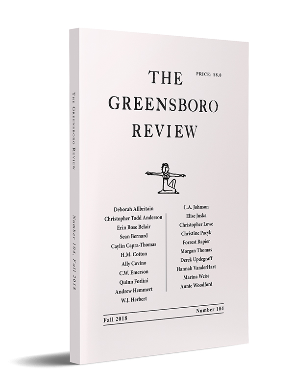 The Greensboro Review, Issue 104, Fall 2018