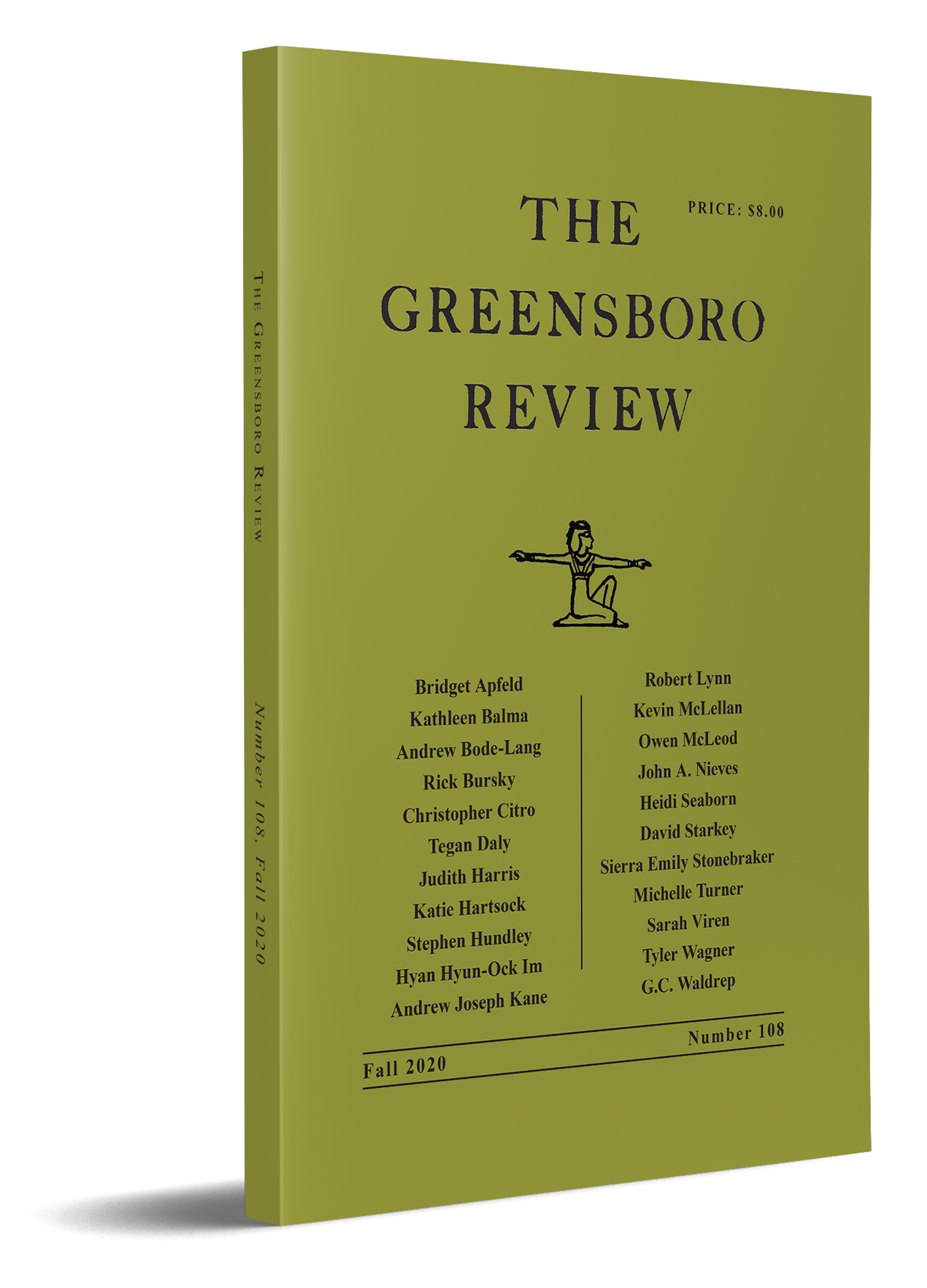 The Greensboro Review, Issue 108, Fall 2020